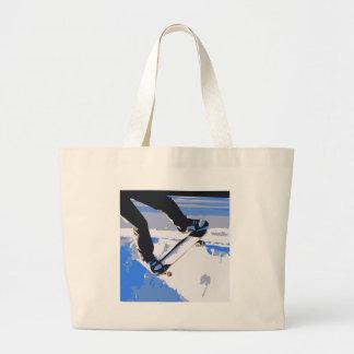 Pool Skating Skateboard Tote Bag
