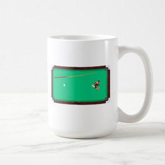 Pool Table Basic White Mug