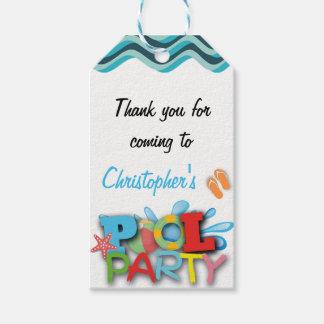 Pool Thank You Gift Tag