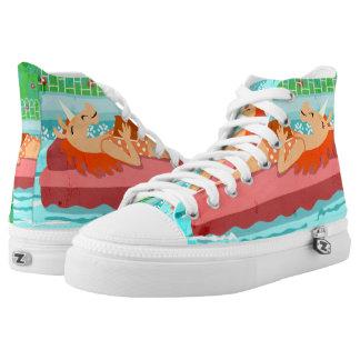 Pool Time Unicorn Printed Shoes