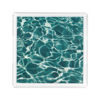 Pool water pattern acrylic tray
