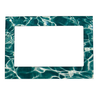 Pool water pattern magnetic frame