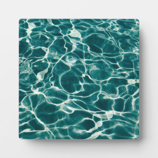 Pool water pattern plaque