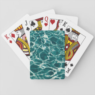 Pool water pattern playing cards