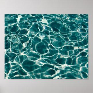 Pool water pattern poster
