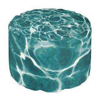 Pool water pattern pouf