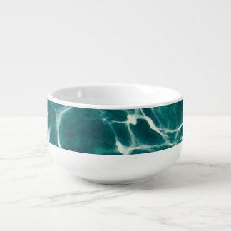 Pool water pattern soup mug
