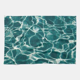 Pool water pattern tea towel
