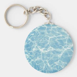 Pool Water, Pool, Swim, Summer Basic Round Button Key Ring