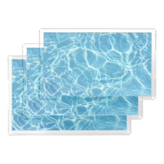 Pool Water Serving Trays