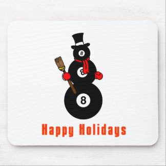 PoolChick Snowman Happy Holidays Mouse Pad