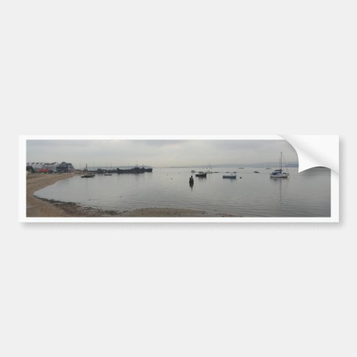 Poole Harbour from Hamworthy Bumper Sticker