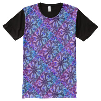 Poolside Kaleidoscope - Beautiful Cool Mosaic All-Over Print T-Shirt