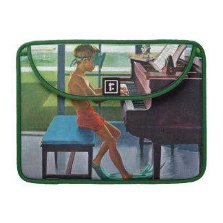 Poolside Piano Practice Sleeves For MacBook Pro