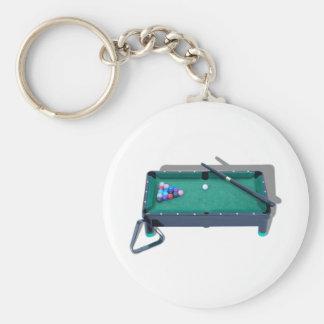 PoolTable042509shadows Basic Round Button Key Ring