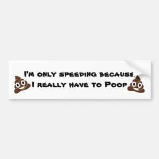Poop Bumper Sticker