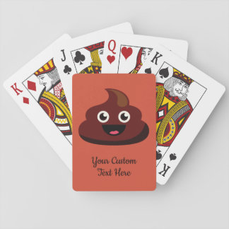POOP custom text & color playing cards