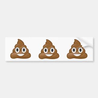 Poop emoji bumper sticker