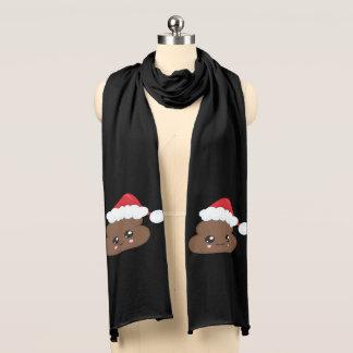 Poop Emoji Christmas Santa Scarf
