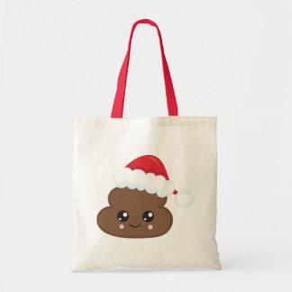 Poop Emoji Christmas Santa Tote Bag