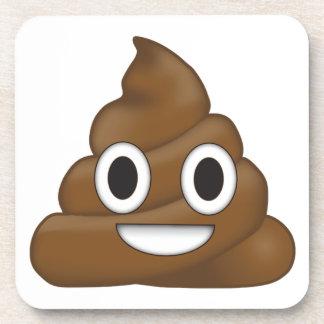 Poop emoji coaster