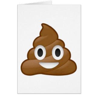 Poop emoji greeting card