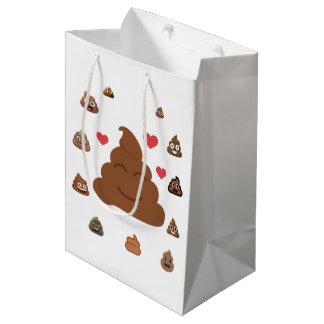 poop emoji medium gift bag