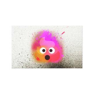 Poop Emoji Spray paint Colourful Wall Art Canvas