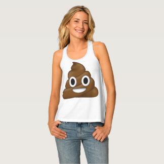 Poop emoji tank top