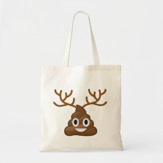 Poop Emoji with Antlers Tote Bag