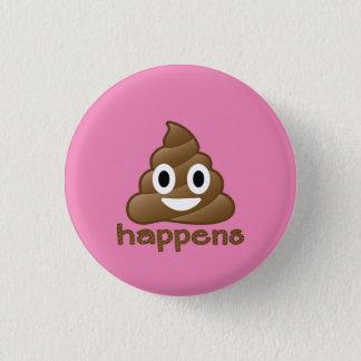Poop Happens Emoji 3 Cm Round Badge