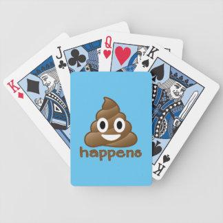 Poop Happens Emoji Bicycle Playing Cards