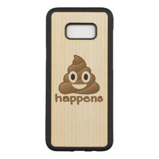 Poop Happens Emoji Carved Samsung Galaxy S8+ Case
