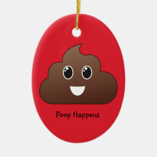 Poop Happens Emoji Ornament