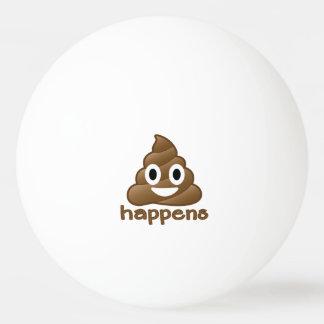 Poop Happens Emoji Ping Pong Ball