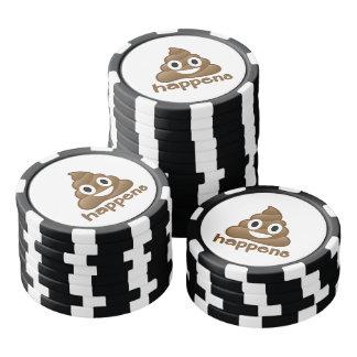 Poop Happens Emoji Poker Chips