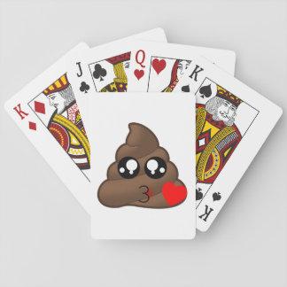 Poop Heart Love Emoji Playing Cards