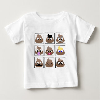 Poop Many Faces Baby T-Shirt