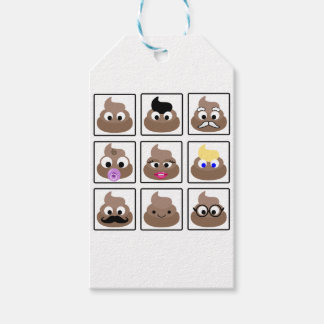 Poop Many Faces Gift Tags