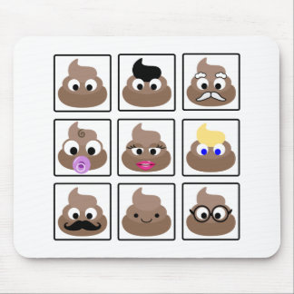 Poop Many Faces Mouse Pad