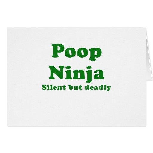 Poop Ninja Silent but Deadly Card