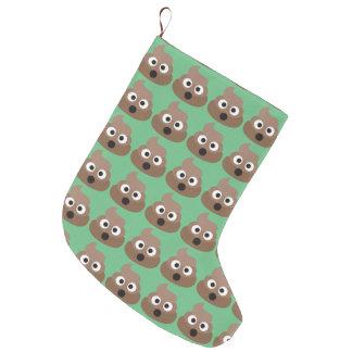 Poop Oh Emoji Large Christmas Stocking