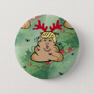 poop reindeer donald trump 6 cm round badge