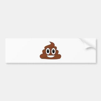 Poop smiley bumper stickers