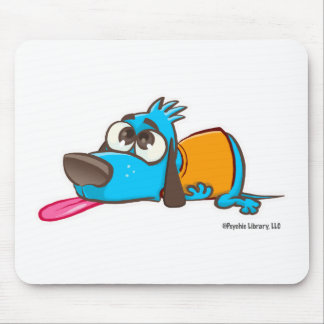 Pooped doggy mouse pad