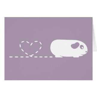 Pooping Heart Guinea Pig Greetings Card