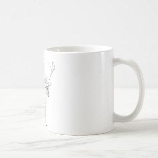 Pooping reindeer coffee mug