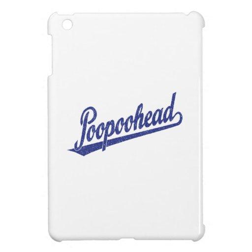 Poopoohead Script Logo in Distressed Blue iPad Mini Case