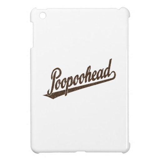 Poopoohead Script Logo in Distressed Brown iPad Mini Cover
