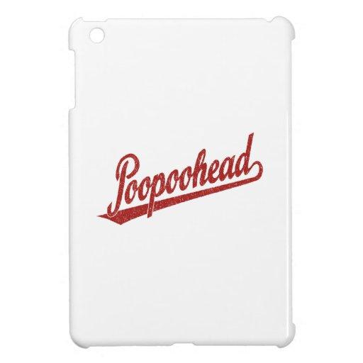Poopoohead Script Logo in Distressed Red iPad Mini Cover
